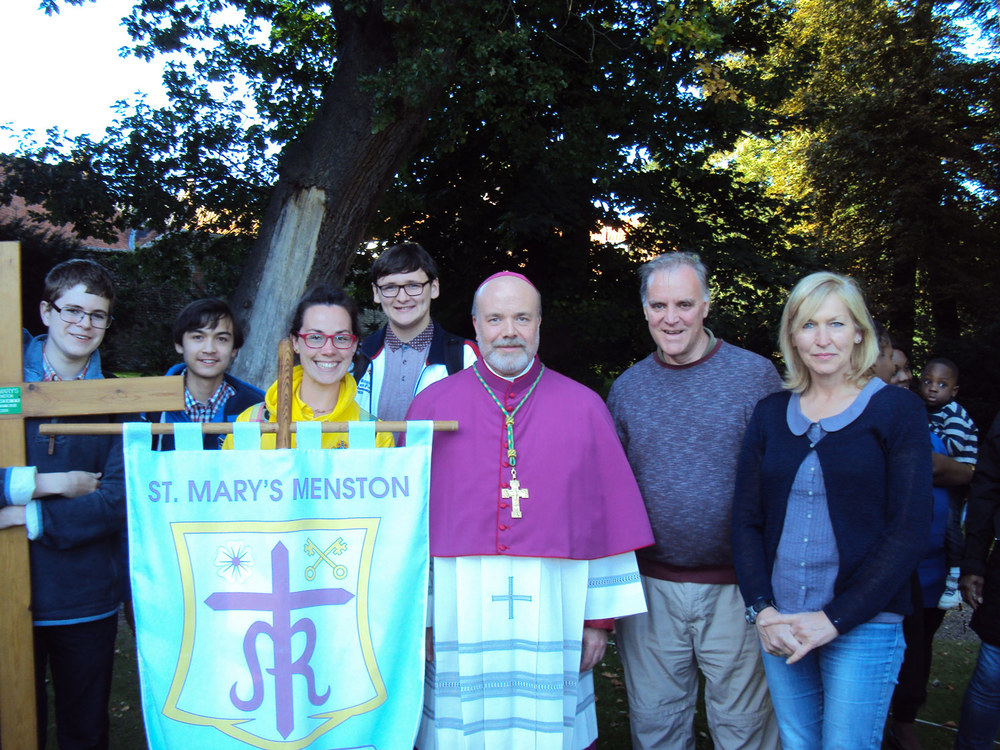 Photo: St. Mary's pilgrims with Bishop Marcus
