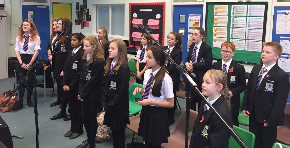 Photo: Our talented Pop Choir practising
