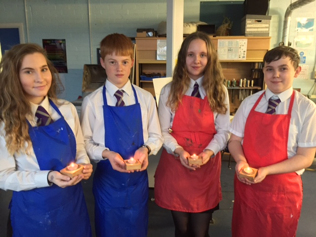 Photo: Pupils with their impressive tea lights