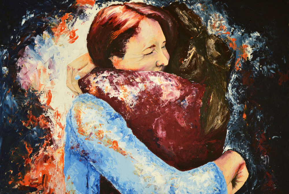 Embrace by Eleanor Thompson (Acrylic on board)