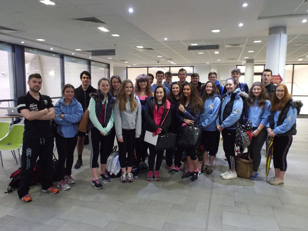Photo: Mr Wilkes with pupils from both the 2015 and 2016 Visits to South Africa