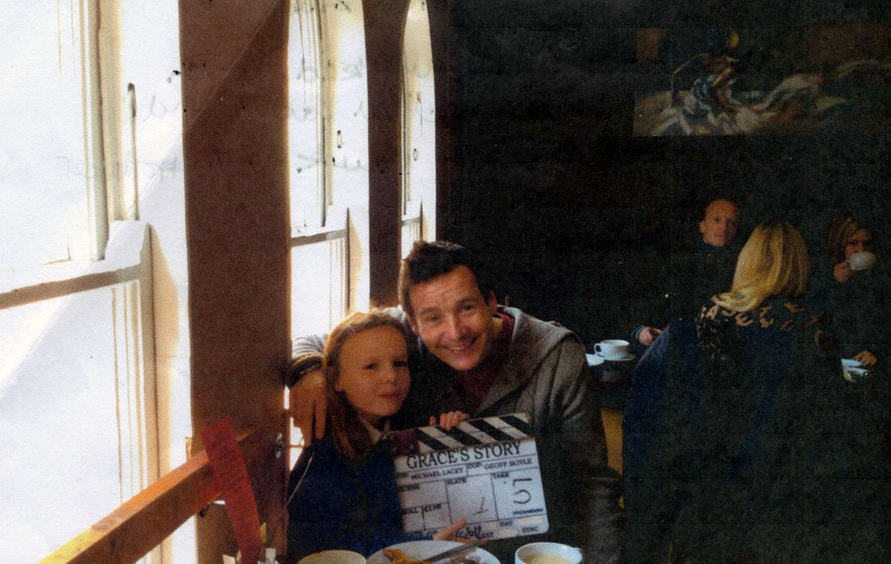 Photo: Niamh on the set