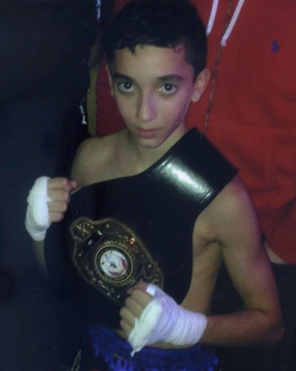 Photo: Josh Desmier with his title belt