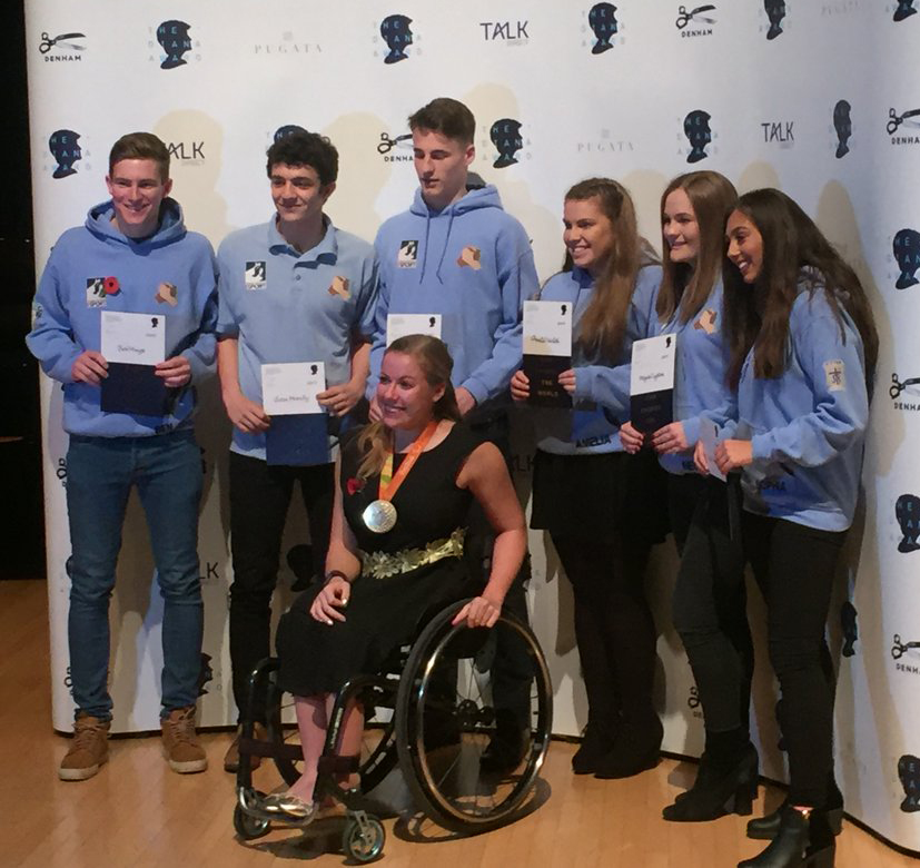 Photo: With Paralympic Gold Medallist Hannah Cockroft MBE