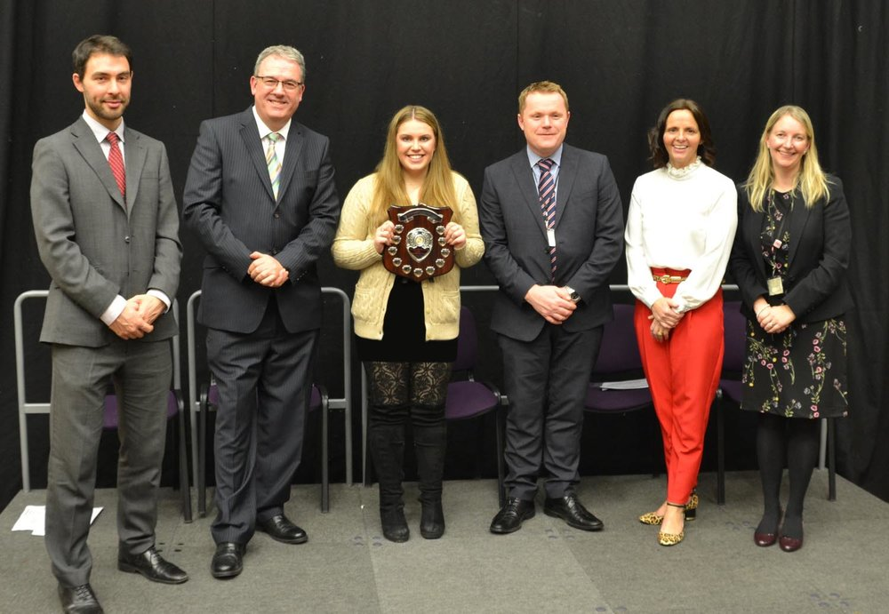 Mr James Trickett (Co-Head of Sixth Form), Mr Duncan Wood, Amelia Walsh, Mr Darren Beardsley (Headteacher), Mrs Catherine Chattoe (Bambisanani Coordinator), Mrs Nicola Bean (Co-Head of Sixth Form)