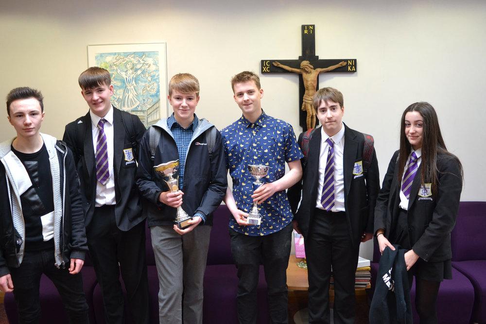 Photo: LEFT TO RIGHT Hugo Stiles, Stephen Cooper, John Cooper, Matthew Wilkinson, Alex Smith, Niamh Waterworth