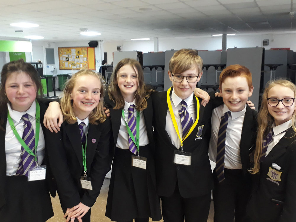 PHOTO: Left to Right: Frances Halewood, Alice Thornton, Martha Marjoram, William Miller, Noah Spenceley, Hannah Jenkins