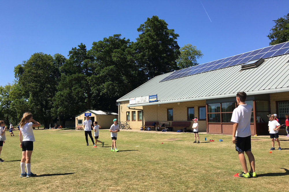 Photo: Year 9 Leaders assisted at the Year 4 Cricket Development Day