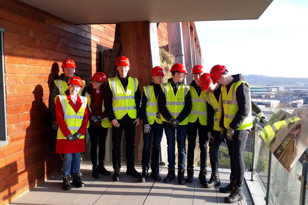 Year 12 students at Leeds  Energy Recovery and Recycling Facility