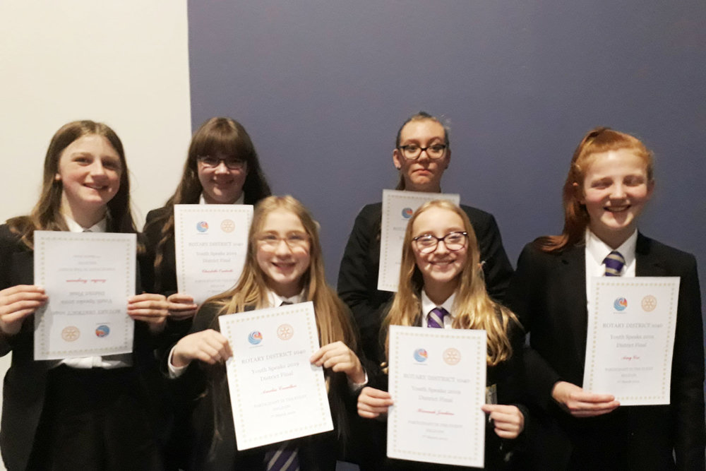 Photo: Well done to all six students who represented St. Mary's