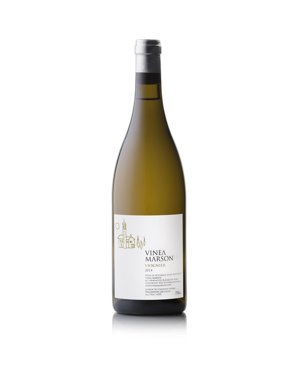 2014 VIOGNIER  - 14.0% alc/volThe 2014 estate-grown Viognier is pale green in colour with slight straw tinges. It displays an elegant, citrus nose of orange pith with hints of apricot, ginger spice, cloves and delicate toast from French oak (30% new). The balance between acidity and sweetness is further evident on the palate – whose supple richness displays myriad citrus and apricot notes. Picked at optimum ripeness, the aspect of the Viognier parcel in the Sopra Vineyard at Vinea Marson allows us to create a wine that demonstrates a beautiful balance between crisp flavours and subtle sweetness.