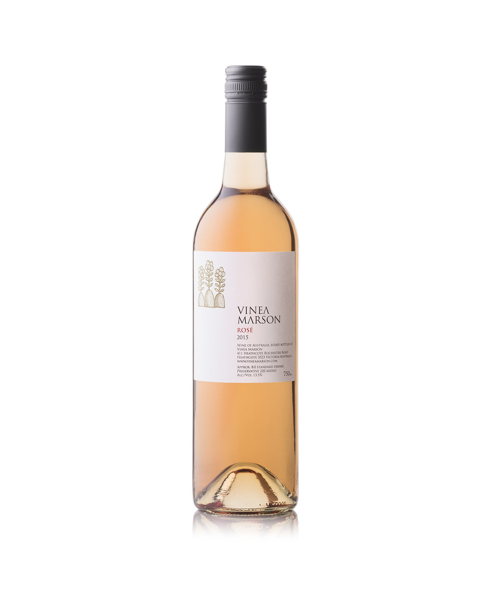 2014 ROSÉ  - 13.5% alc/vol(75% Sangiovese and 25% Nebbiolo)The pale onion skin colour of this Rosé with slight pink tinges gives a hint as to the savoury European style of this beautiful food friendly wine. On the nose, notes of strawberries and cream are evident as well as enticing savoury herbal characters. This wine exhibits a savoury palate of dried herbs from the Nebbiolo which gives way to flavours of ripe strawberries and cherries from the Sangiovese. A hint of almond kernel is evident on this wine's long finish.The mix of these two varieties allows for the dynamic interplay between Sangiovese and Nebbiolo – a merging of sweet fruit and savoury characters provide this wine with balance and complexity.