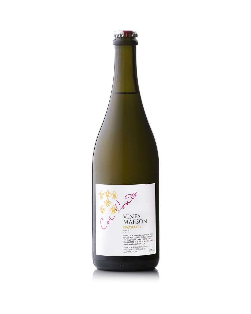 2015 Prosecco Col Fondo  - Experience Prosecco as it was traditionally made (before the late 19th century that is)! Unlike its fruitier and more floral mainstream counterpart, the col fondo does not undergo disgorgement and dosage so that the lees remain in bottle. The resulting cloudy wine is full of savoury aromatics and pleasant bread characters. On the nose aromas of lemon and fresh granny-smith apples are evident, followed by lemon tart characters alongside notes of toasted brioche on the palate. The balance of crisp acidity and nutty characters on the finish make this wine the perfect accompaniment for the salty flavours on an antipasto platter – with meats such as Veneto salumi or cappocollo. Available exclusively at the Cellar Door and in extremely limited quantities – order now to avoid missing out!