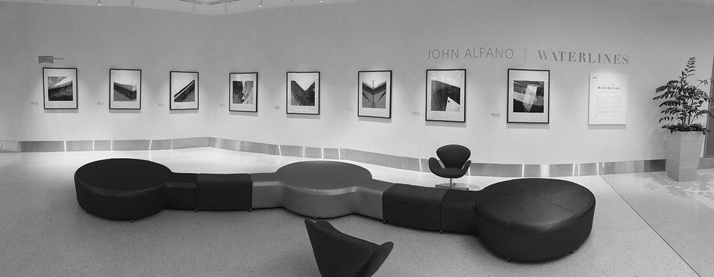 Funny, this Waterlines collection has evolved from walking a dock in Monterey with my left arm in a sling from shoulder surgery and a camera in my right hand to an exhibit of eight images between Terminal 2 and 3 at SFO! Please forgive this somewhat distorted iPhone generated pano, but hey, you get the idea. I love the pre-security meeting space, the images are reproduced large enough so you can see them from a distance, and the quality of the reproductions are outstanding (please ignore my noseprint on the second image from the right!) Many thanks to Ramekon, Tim, and Connie at the SFO Museum, who were a delight to work with. If you aren't planing on passing through between now and March 15th, you can check out the images and the artist statement at the SFO Museum website.