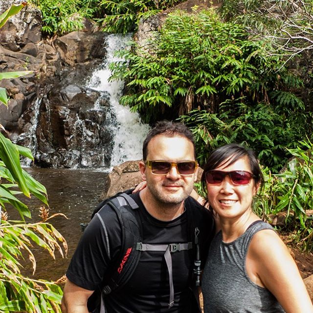 Sean and I had an amazing honeymoon in Kaua'i. This is from our hike to Waipoo Falls in Waimea Canyon. #honeymoon #kauai #hikinghawaii #waterfalls #waimeacanyon