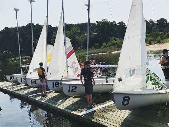 Good morning from the Brendan Sailing Program! #st.mary #summer #maryland #learningdifferences #rigging