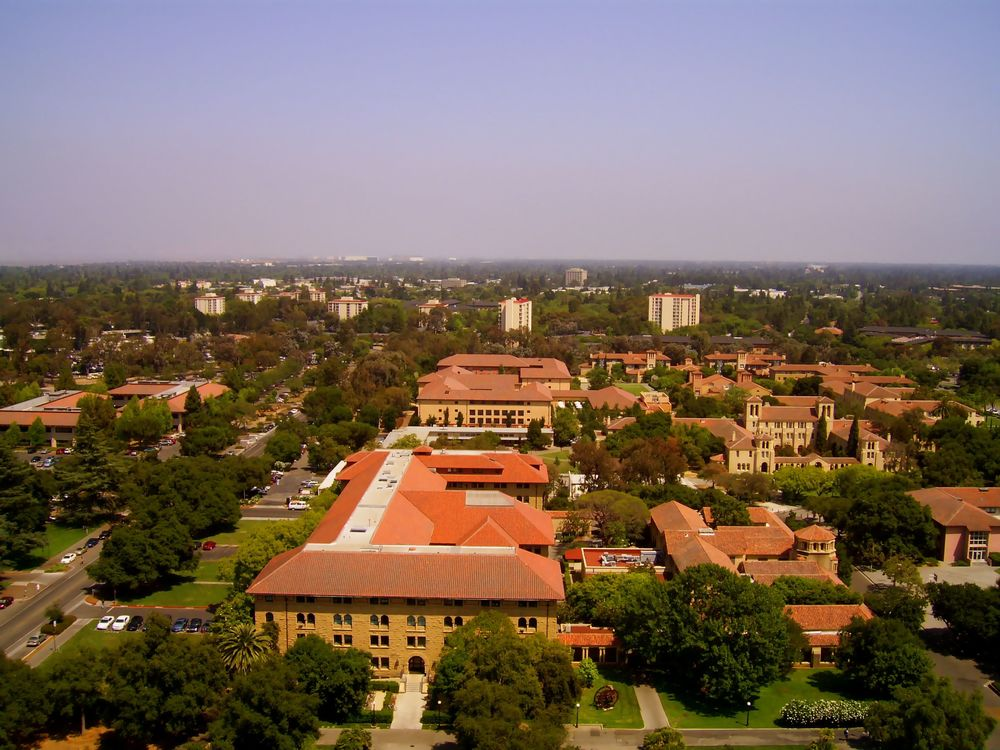 View of Silicon Valley from Stanford University