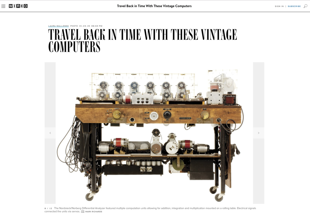 Read  Wired Magazine's  article about  Core Memory.