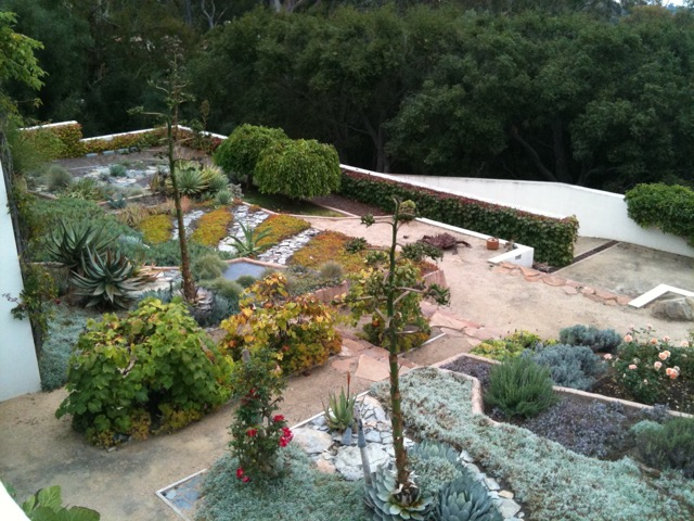 The Valentine Garden, designed by landscape architect Isabelle Greene