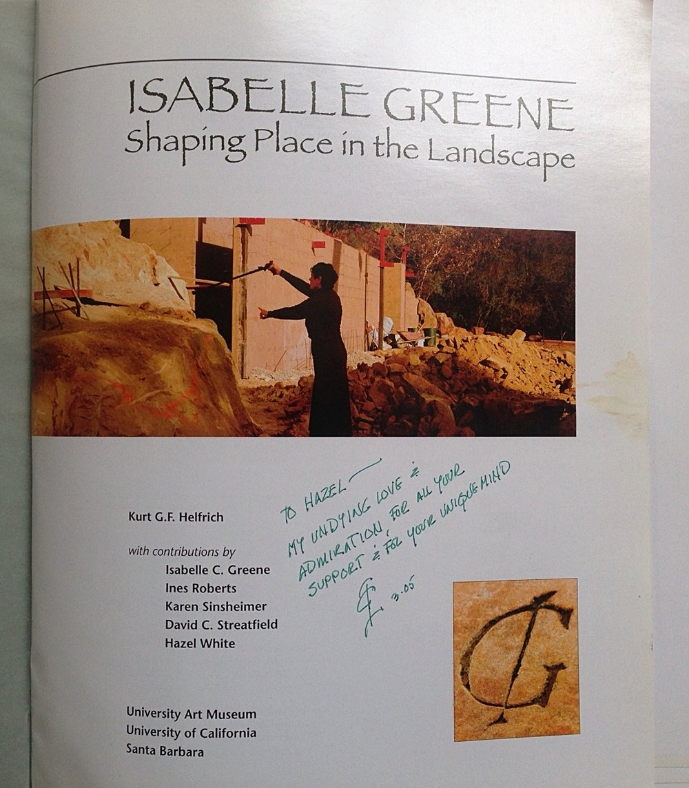 Exhibit catalog for Isabelle's show at the UC Santa Barbara Art Museum