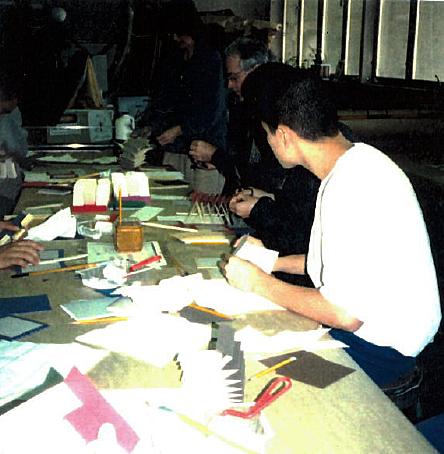 Wards making books.