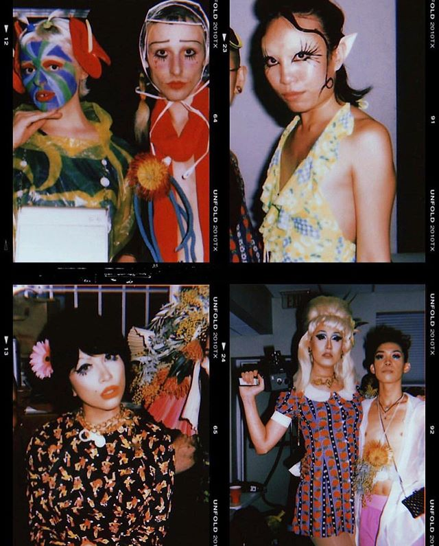 sooo grateful to @risa.hoshino for having me help with @barriovintage's Protea fashion show!!! working with so many talented makeup and hair artists, floral stylists, and models on this psychedelic 70-inspired extraterrestrial acid trip of a show was a dreammmm 👽🖤 snaps by @theislandghoul!