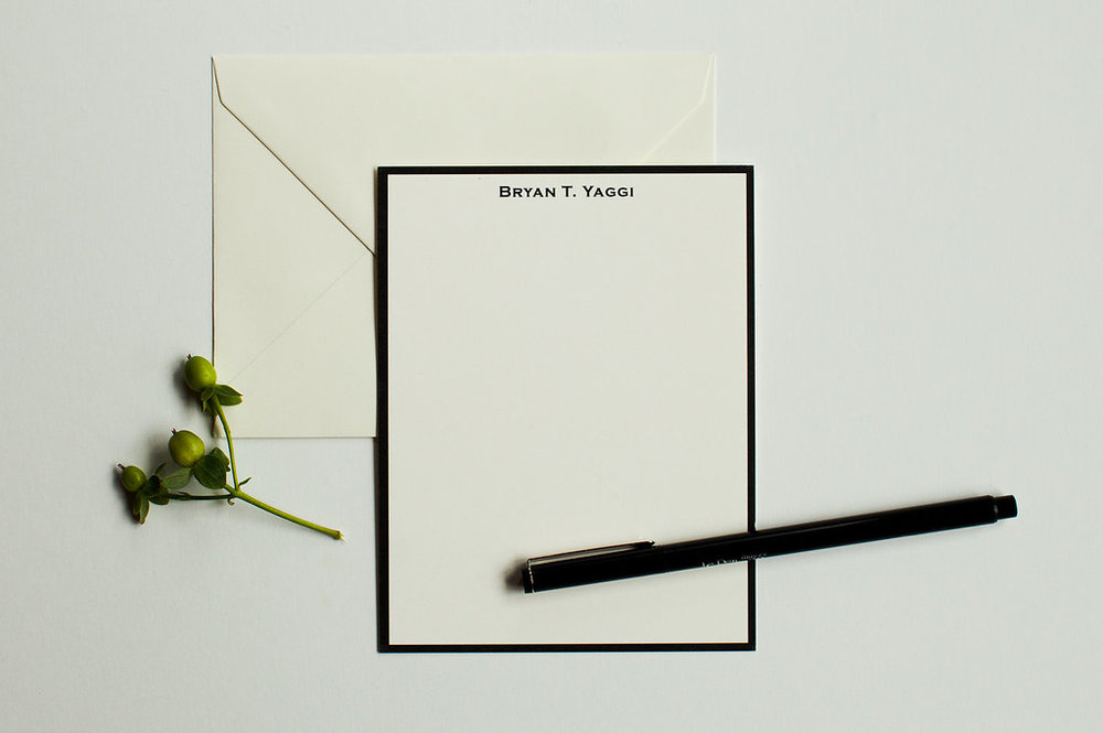 Men's Vertical Personalized Stationery