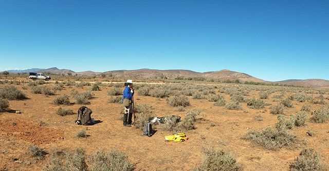 I think that's a record folks, a site from scratch in just over an hour! #soilsamples #soilgenomics #metagenomics #chenopodshrublands #maireanapyramidata #vegetationdata #soilbulkdensity #trendtransect #researchinfrastructure #TERN_au #wehavethedataandsamplesyouneed