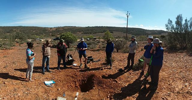 Showing the Rangers from the Yappala indigenous Protected area what we do. Thanks for having us out there guys #soilchemistry #soilsamples #basalarea #researchinfrastructure #vegetationstructure #casuarinapauper #TERN_au