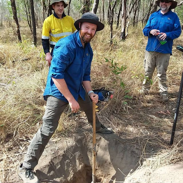 Digging soil pits in 40 degree is a tough job but Luke is still smiling, for now.  #soilscience #basalarea #research #savannah #fireecology #invertebrates #pointintercepttransect #researchinfrastructure #wehaveyourdata #tern_au #freelyavailsbledata #soilandveg #soilbulkdensity #vegetationstructure #kakadunationalpark #plantgenomics #plantgenetics #plantisotopes #leafareaindex #herbariumsamples