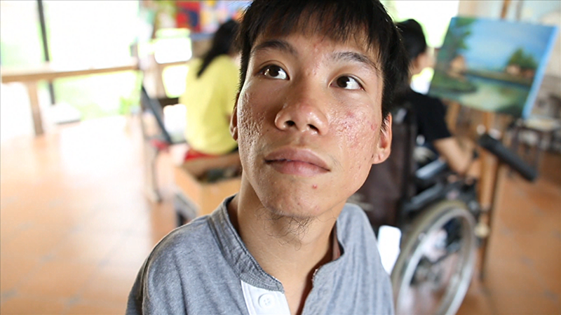 2015, 34 min. documentary Chau, a teenager living in a Vietnamese care center for kids disabled by Agent Orange, struggles with the reality of his dream to one day become a professional artist.  website:   beyondthelinesfilm.com