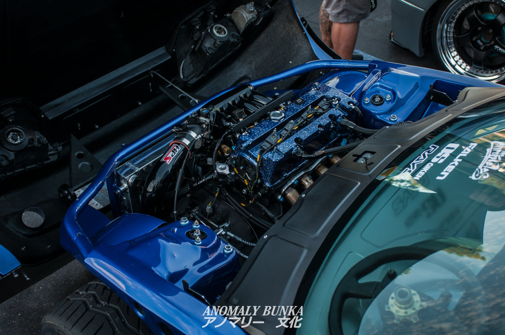 Another build I was excited to see, which I saw plenty of at SEMA, was Autofashion's Pandem Rocket Bunny EG Civic.  The work on this car is insane and the clam-shell front definitely stands out.