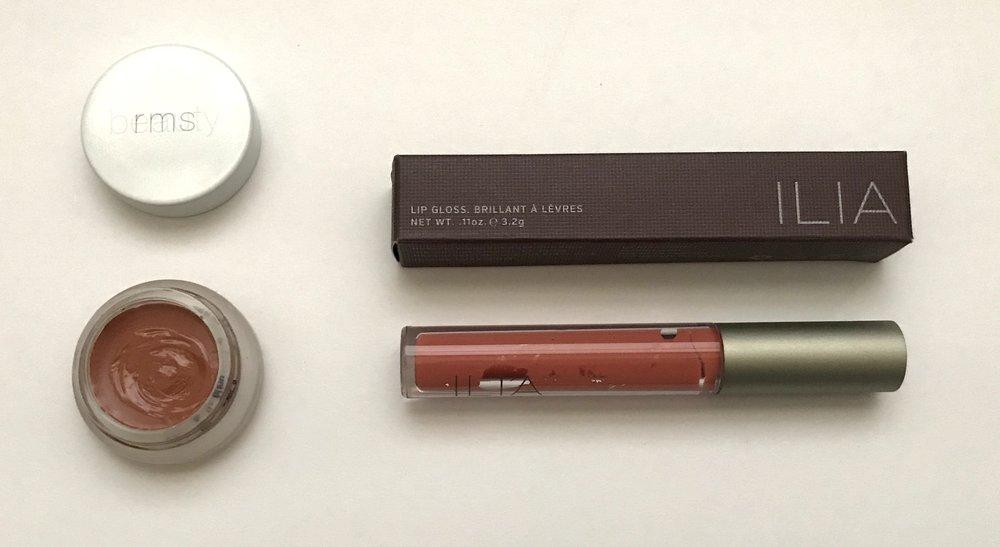 RMS Beauty & Ilia lip glosses, available at Vert Beauty