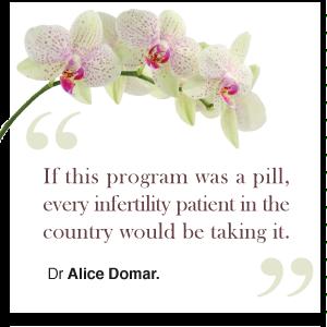 Dr Alice Domar - PHD - Assoc. Prof Harvard.