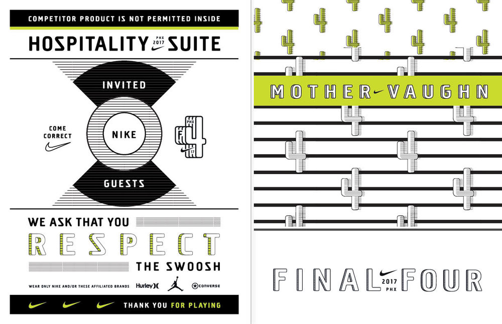AD/CW  Nike 2017 Final Four Branding and Executive Hospitality Suite