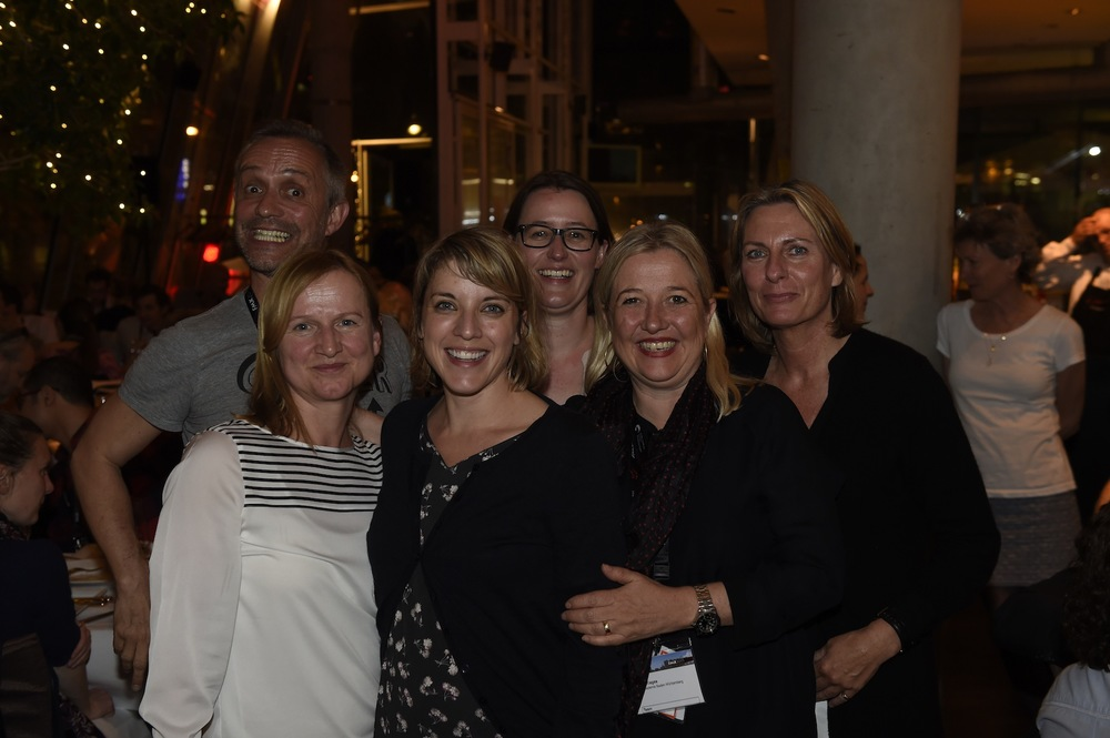 Andrea at the APD Farewell dinner with (clockwise from left to right): Gisela Schäfer, Christophe Erbès, Marlene Wagener, Dominique Neudecker & Annick Maes.