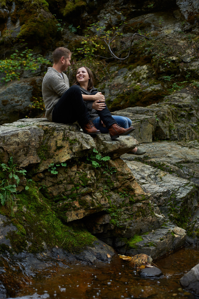 rocky engagement session