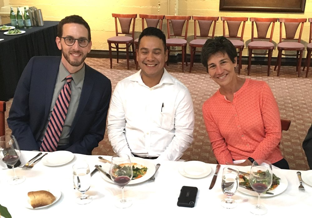 Ricardo Armendarez of Altsys blissfully enjoys dining with two heavy clean energy hitters: Sen. Scott Wiener and Asm. Susan Eggman