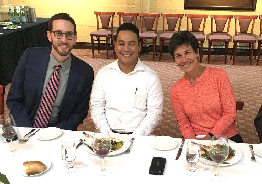 Ricardo Armendarez of Altsys blissfully enjoys dining with two heavy clean energy hitters: Sen. Scott Wiener and Asm. Susan Eggman