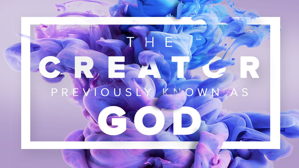 """THE CREATOR PREVIOUSLY KNOWN AS GOD   God Is…Good, Merciful, Perfect, Truth, Unchanging, Majestic, Grace, Jealous, Holy, Just, Wrathful, Loving and Wise. Is that how you understand God? Is that the God of the Bible? Author/Scholar A.W. Tozer wrote, """"What comes into our minds when we think about God is the most important thing about us."""" Join us at Crossway for our new series, The Creator Previously Known as God."""