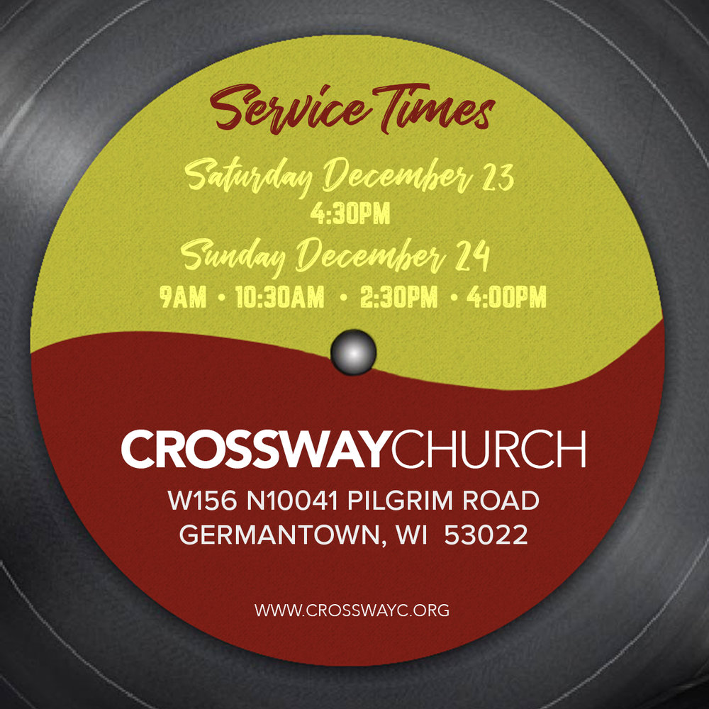 DIGITAL EVITE  - Send a personal email to family, friends, or neighbors inviting them to join you at CrossWay Church on Christmas Eve.