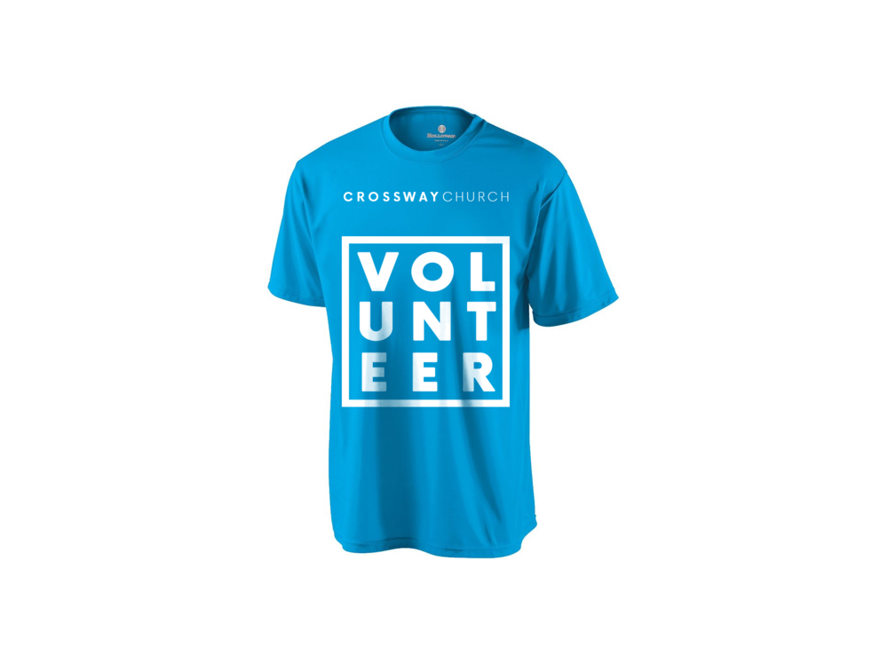 Don't forget your shirt when going to serve - Provided when you register for a serving opportunity