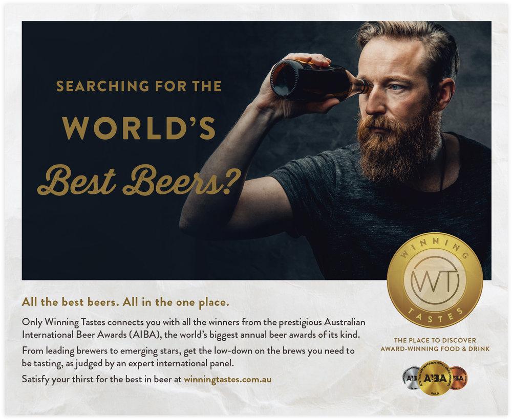 Winning Tastes AIBA Good Beer Week Press Ad