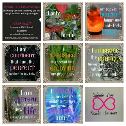 7 Pregnancy Affirmations available for instant download