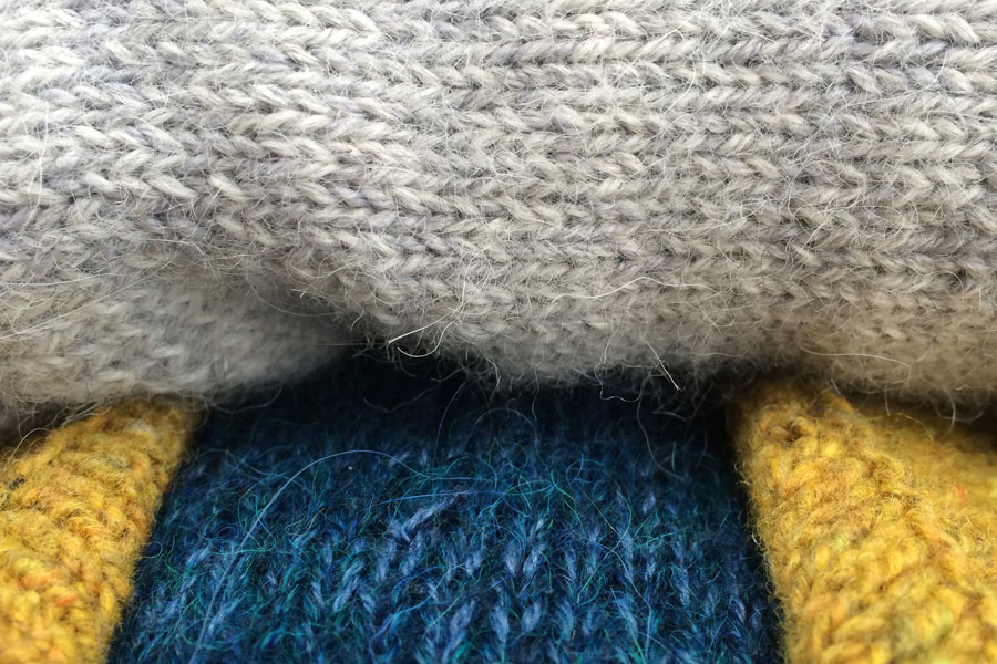new and old colours, knitting from 2011, 2014