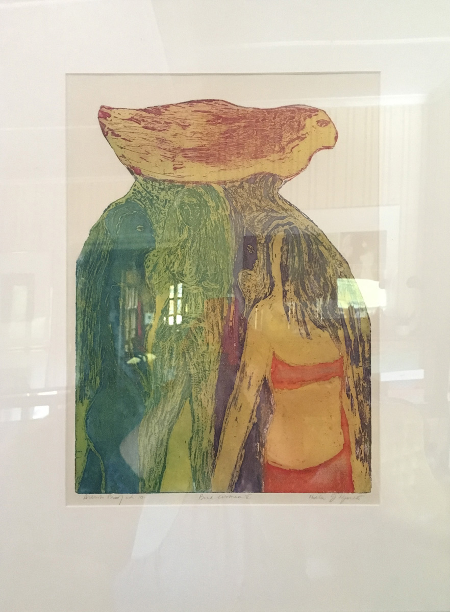 Bird Woman II, Noela J Hjorth, undated artist's proof, aquatint etching