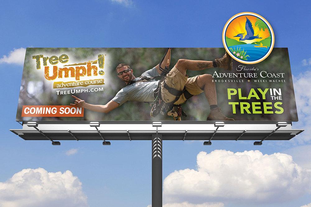 My photo featured on a billboard. Billboard design by norakramerdesigns.com