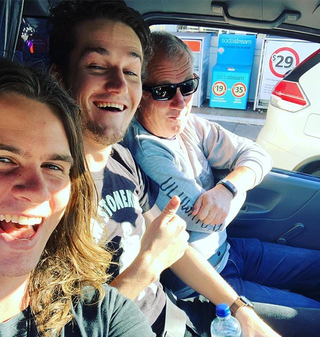 Crammed into the van on our way to open up for Fantastic Negrito in Sydney tonight. Featuring our new roadie/tour manager/biggest fan....Josh's dad. #papaduff #keepingitinthefamily @fantasticnegrito