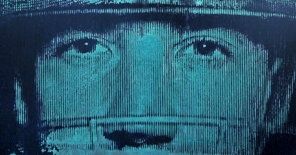 Phil Hughes 2015, Mixed media silkscreen with copper.