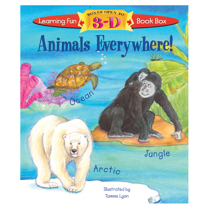 ANIMALS EVERYWHERE!   Piggy Toes Press  Format also by Renee Jablow